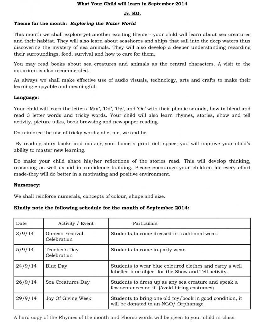 jr kg - synopsis - september 2014