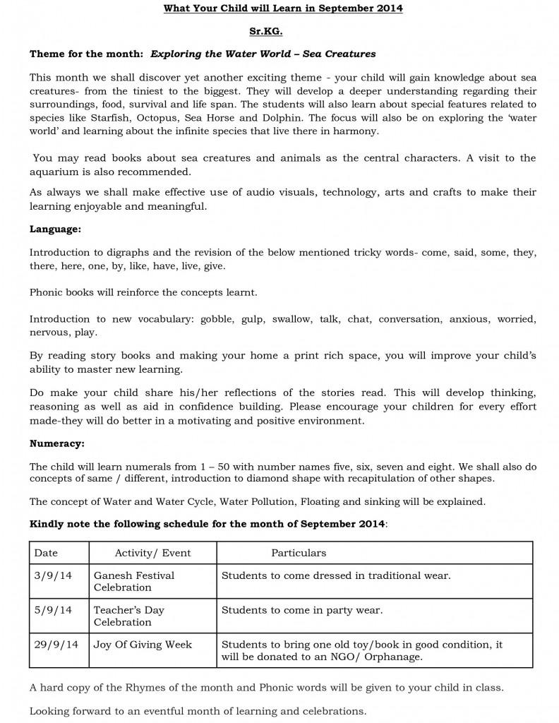 sr kg - synopsis - september 2014