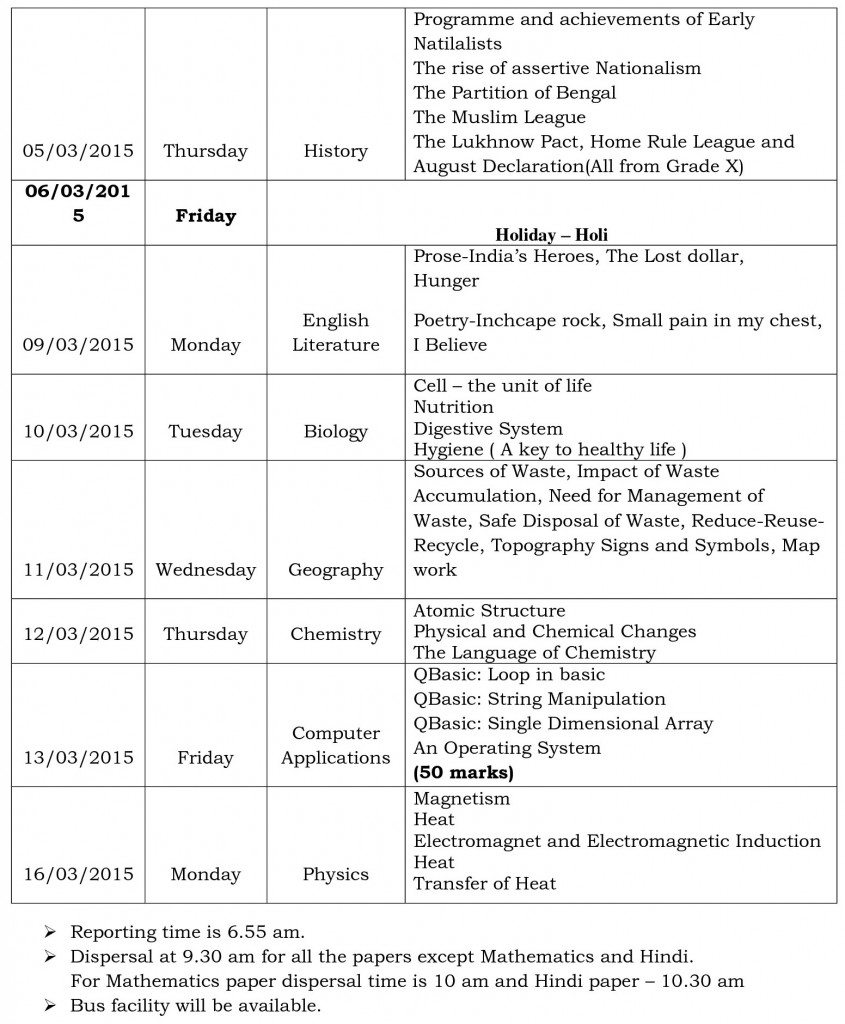 final exams schedule viii-1