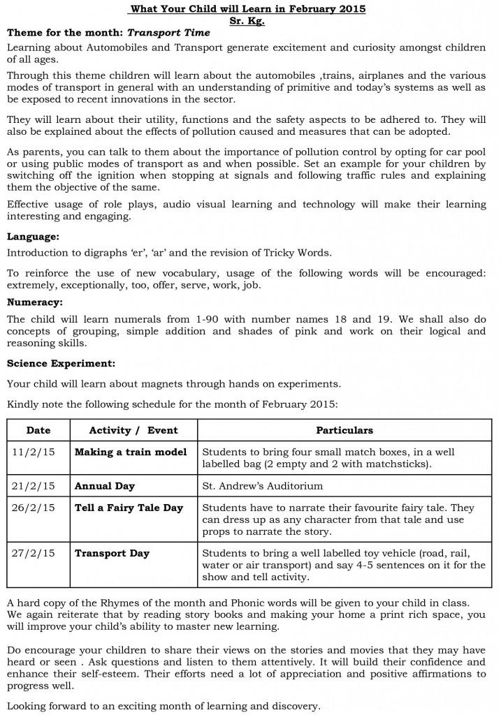 sr kg - synopsis - february 2015