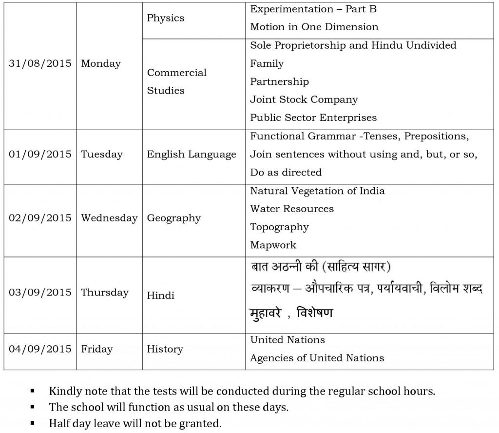 ix semester i cce 2 examination schedule 2015-1