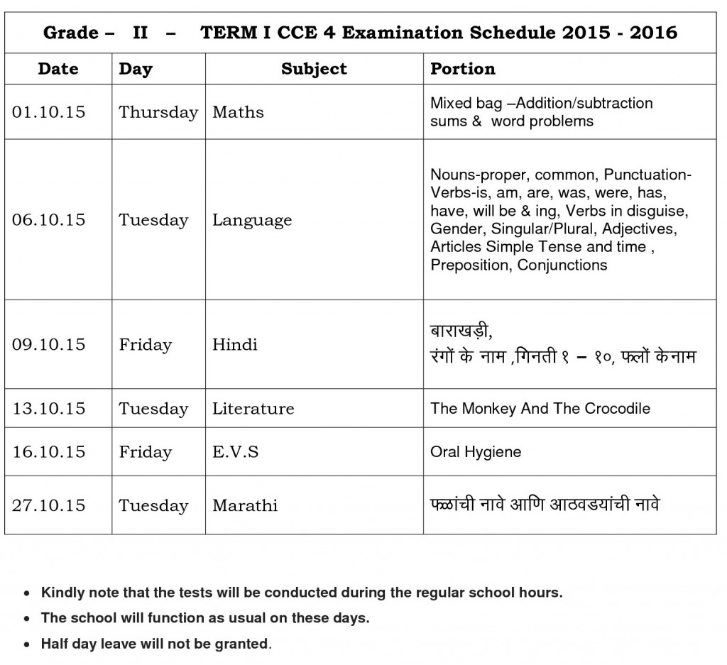 grade - ii- term - i - cce - 4 - parent