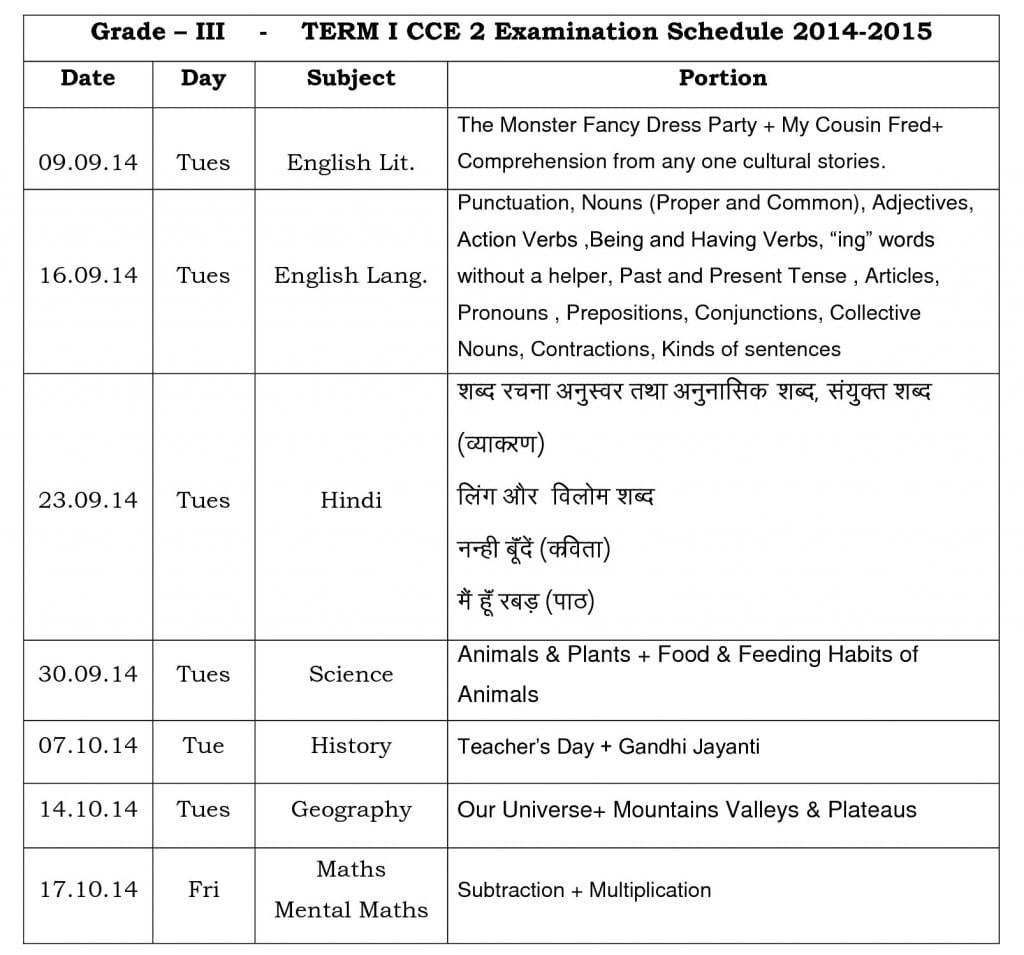 Term I CCE 2 Schedule & portion plan