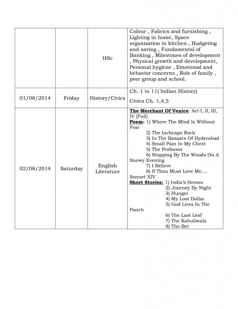 term i  examination schedule 2014 grade x-3