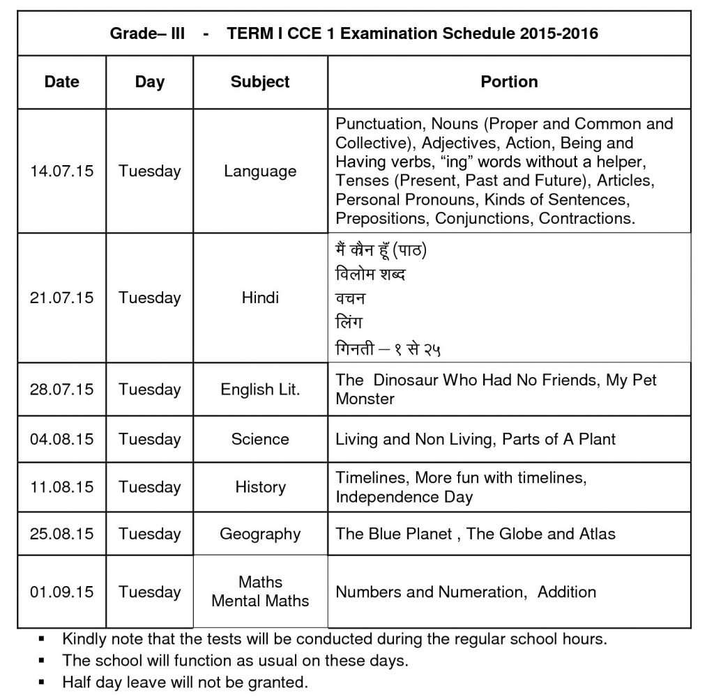 grade iii - term i - cce - parent copy