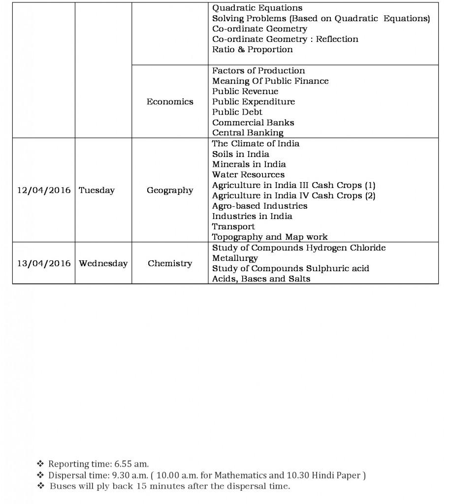 semester ii schedule grade ix-2