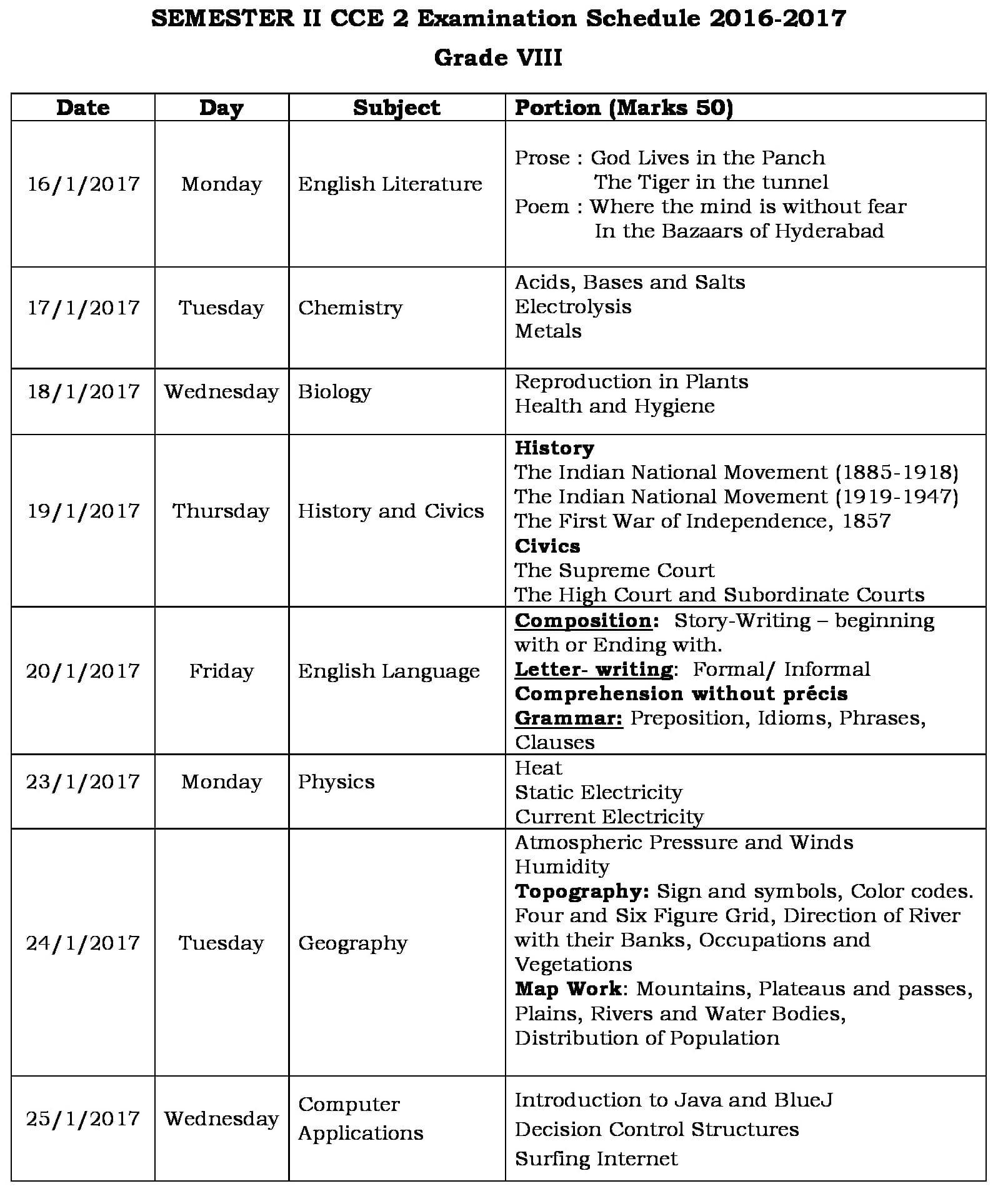 grade-viii-cce2-schedule-2016-17-0