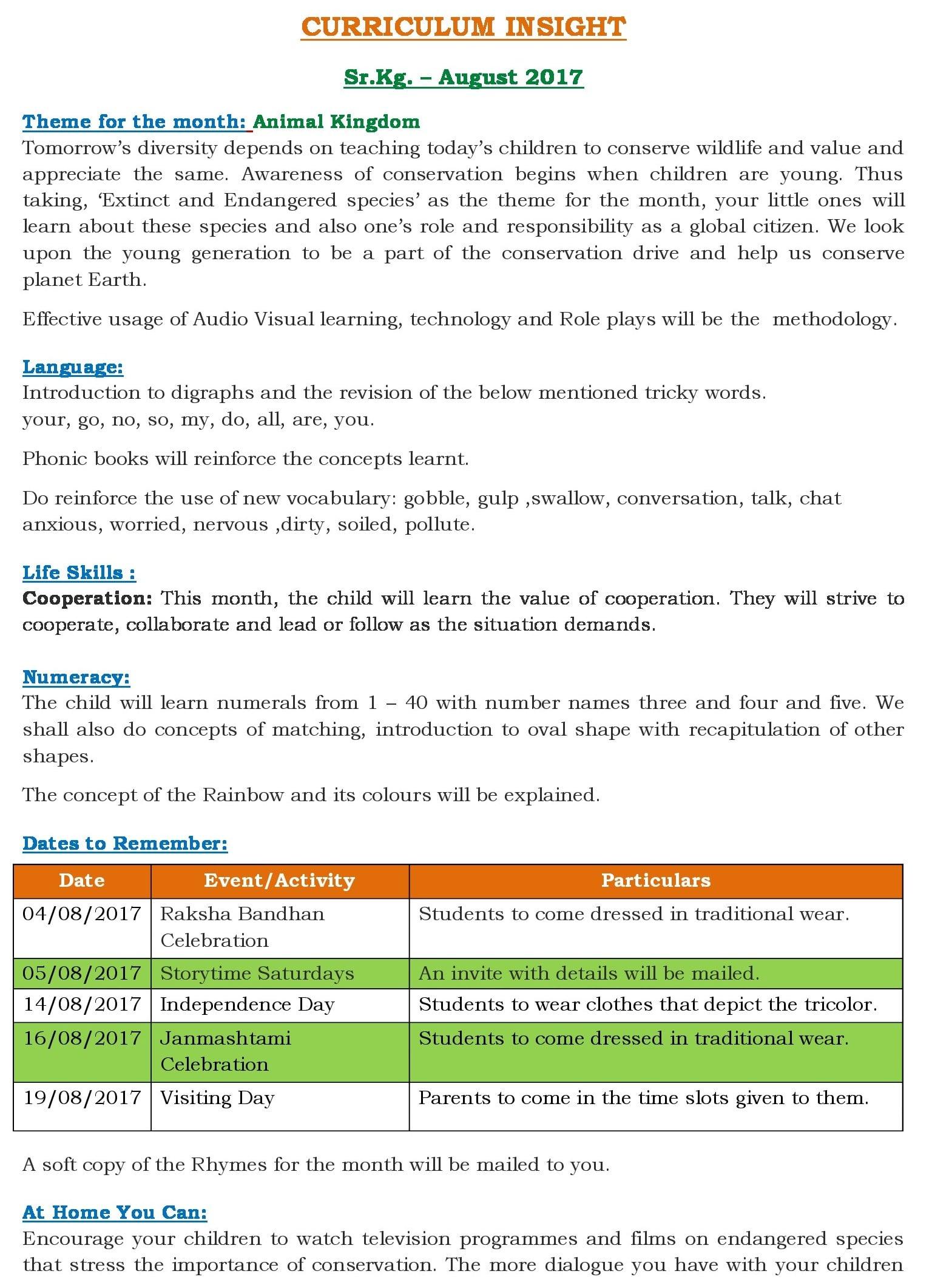 Unit 3 Curriculum Insight