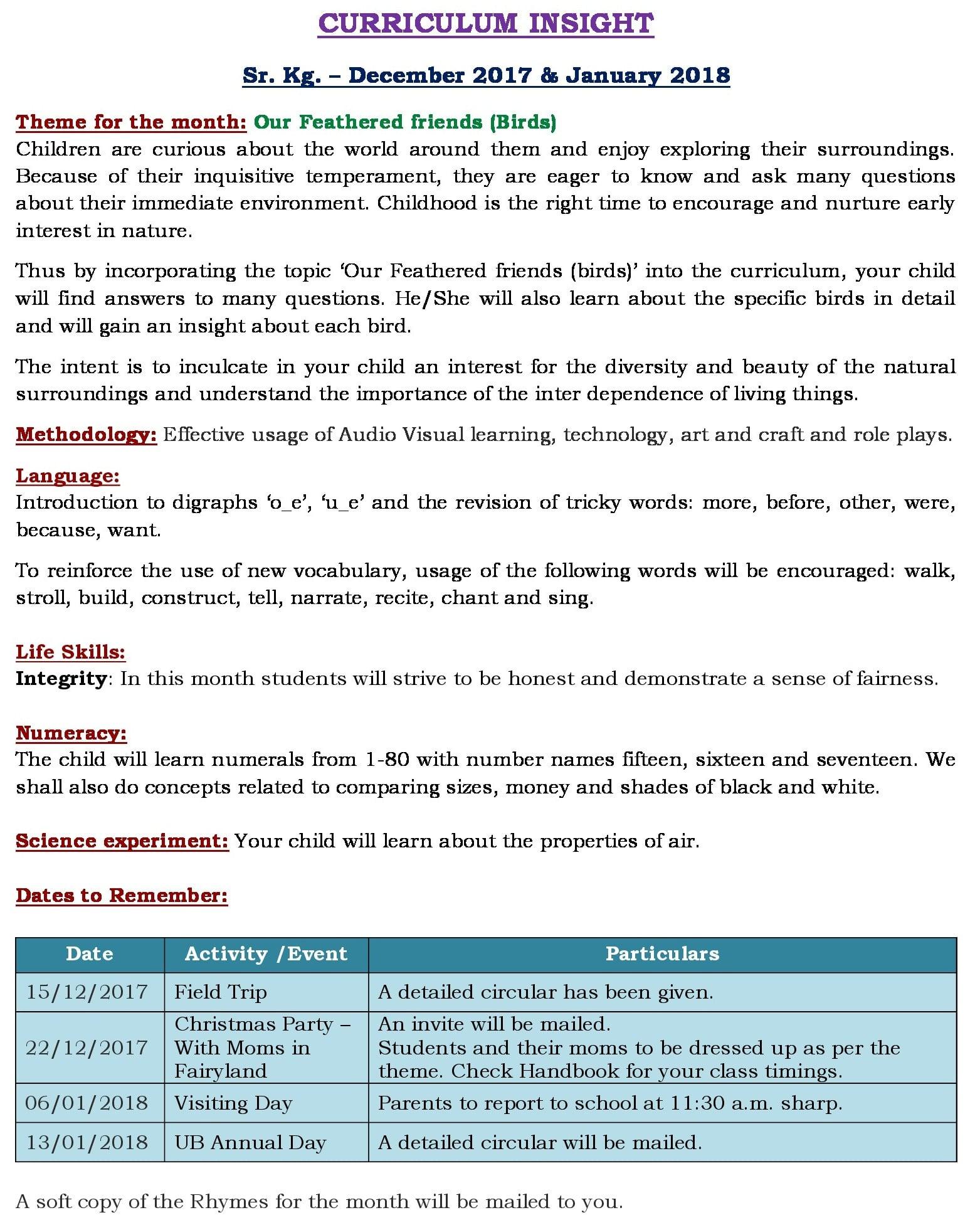 Unit 7 Curriculum Insight