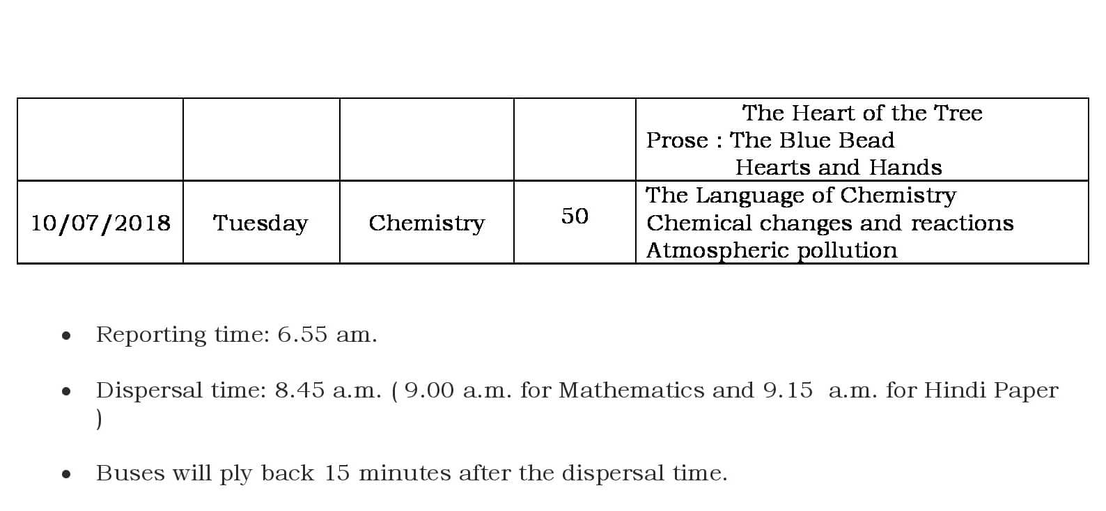 FA1 Portion and Schedule