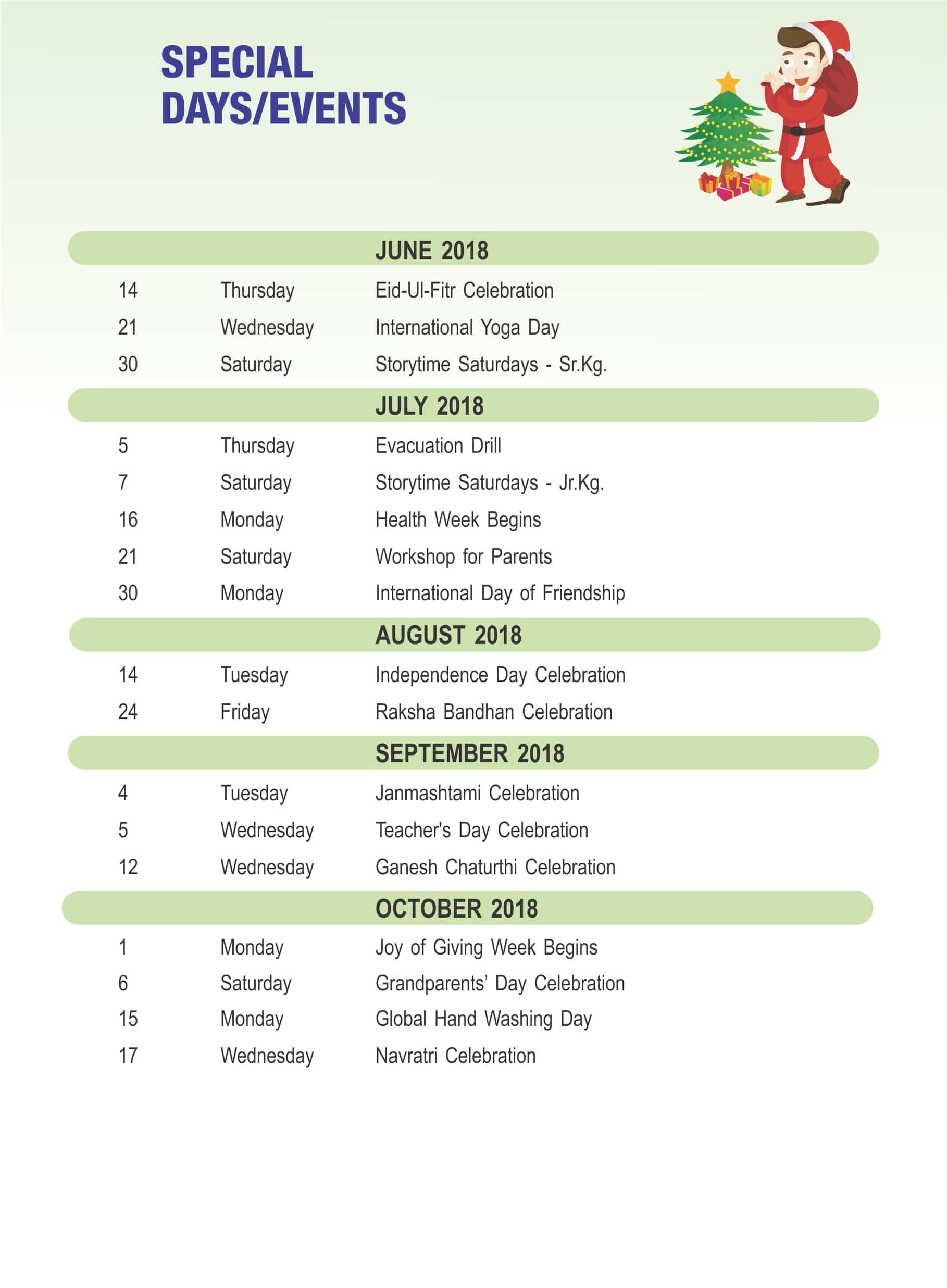 Sju Calendar.Events Pre Primary Planner 2016 2017 St John S Universal School