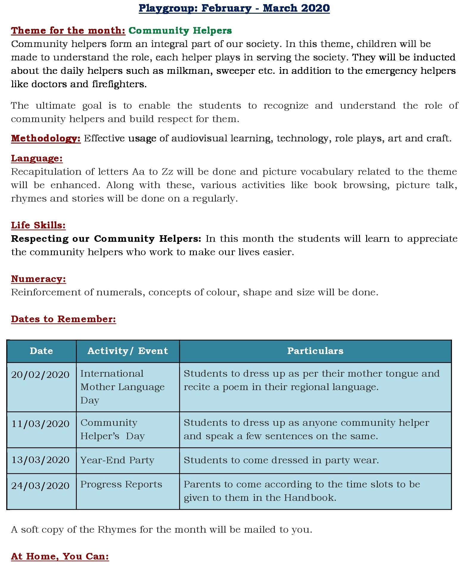 Unit 9 Curriculum Insight 2019-20